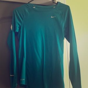 Nike turquoise long sleeve shirt
